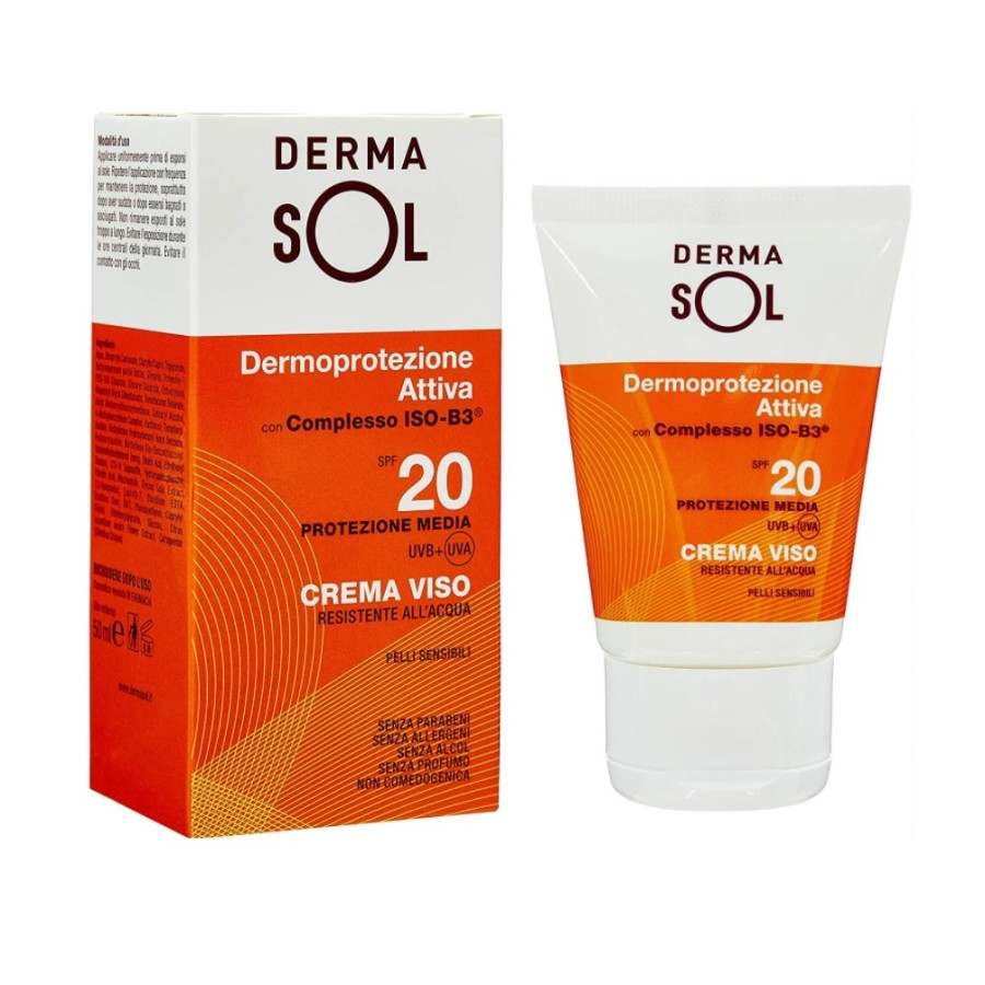 Dermasol  Protezione Solare SPF20 Crema Viso Protezione Media 50 ml
