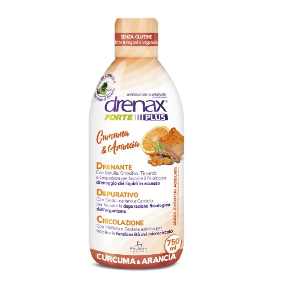 Drenax Forte Plus Drenante Curcuma E Arancia Integratore Alimentare 750 Ml
