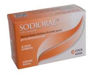 Ca.Di. Group Sodioral con Inulina al Gusto di Arancia 8 bustine