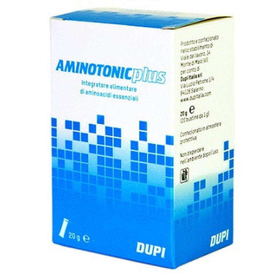 Aminotonic Plus Integratore Alimentare Aminoacidi Essenziali 20 Bustine