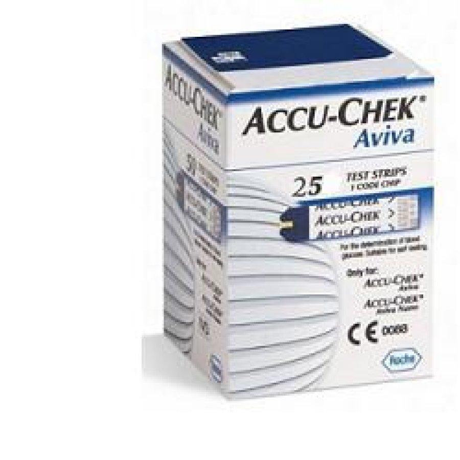 Accu-Chek Aviva Controllo Glicemia  25 Strisce Rilevatrici