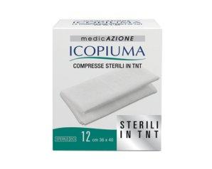 Garza Compressa In Tessuto Non Tessuto Icopiuma Autoadesiva 36x40cm 12 Pezzi