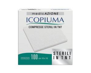 Garza Compressa In Tessuto Non Tessuto Icopiuma Adesiva 10x10 Cm 100 Pezzi
