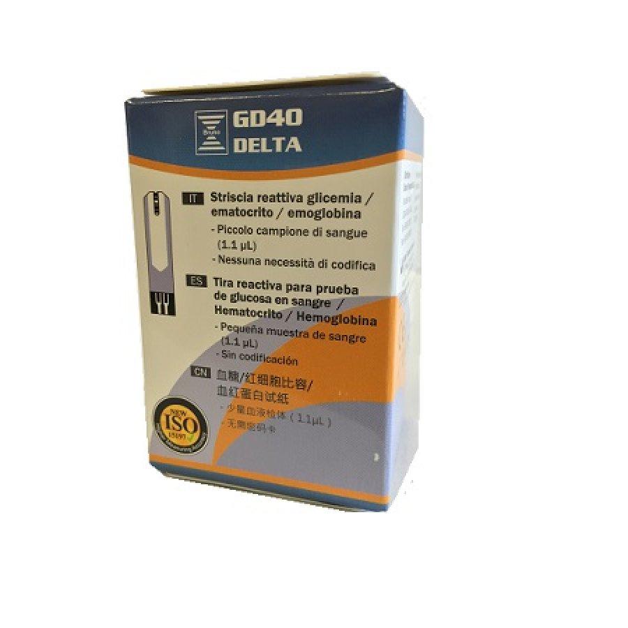 Bruno Farmaceutici Gd40 Delta Strisce Glicemia 25 Strisce
