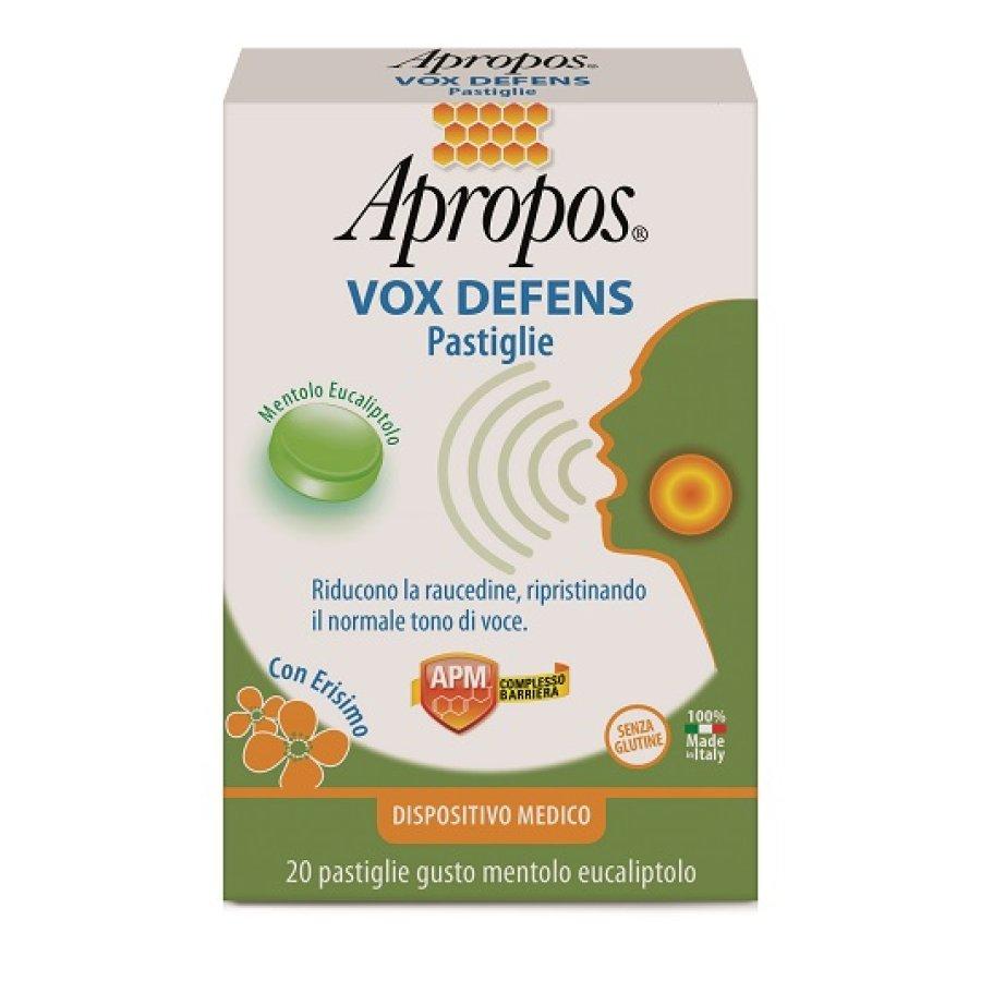 Apropos Vox Defens Senza Glutine Gusto Mentolo Eucaliptolo 20 Pastiglie