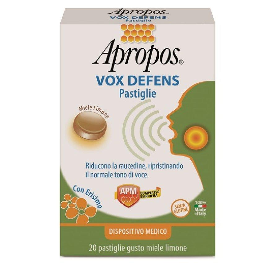 Apropos Vox Defens 20 Pastiglie Gusto Miele Limone