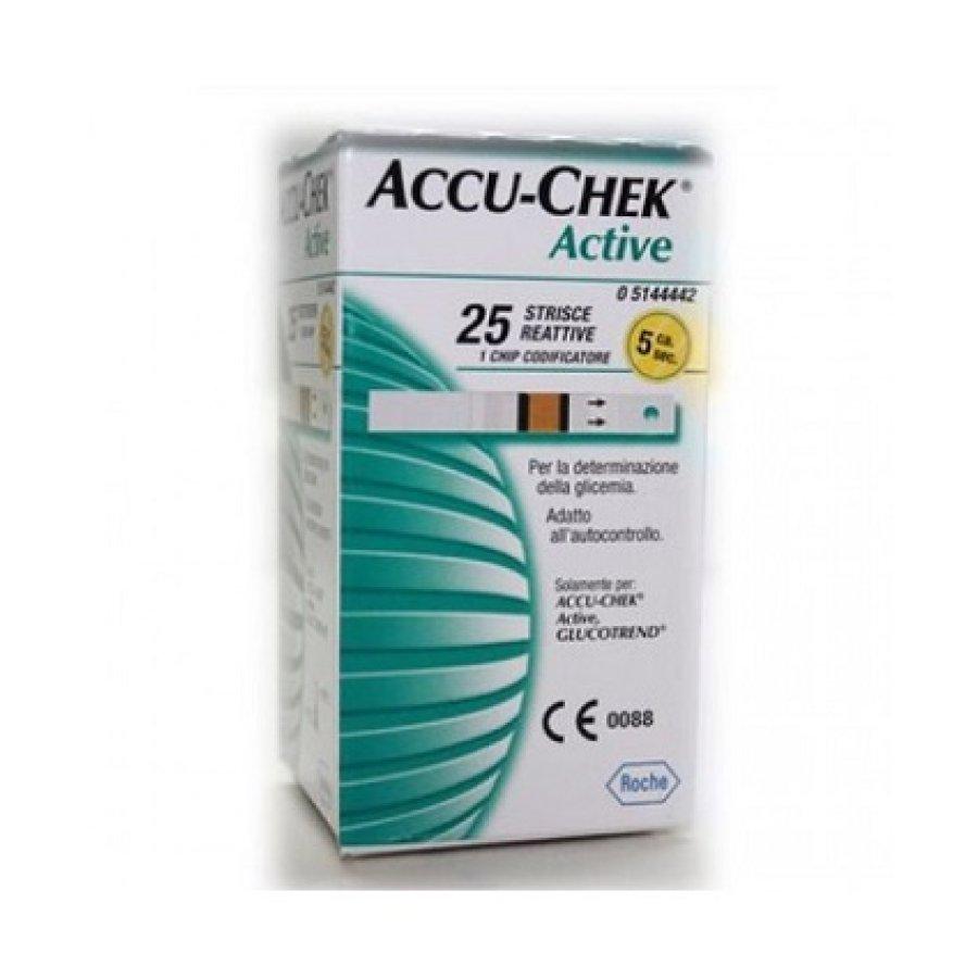 Accu-Chek Active Strisce Misurazione Glicemia 25 Pezzi
