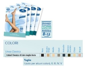 Desa Pharma Sauber Collant 40 Denari Maglia Liscia Neutro Beige 5 Linea Classica
