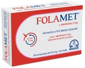 A.b.pharm Folamet Integratore Alimentare 30 Compresse Rivestite 500 Mg