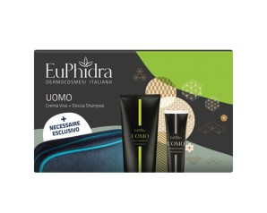 Euphidra Uomo Beauty Box 1 Doccia Shampoo + 1 Crema Viso Mat + 1 Beauty