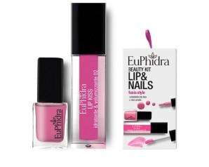 Zeta Farmaceutici Euphidra Cofanetto Beauty Kit Fuxia Style 1 Gloss + 1 Smalto