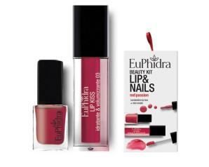 Zeta Farmaceutici Euphidra Cofanetto Beauty Kit Red Passion 1 Gloss + 1 Smalto