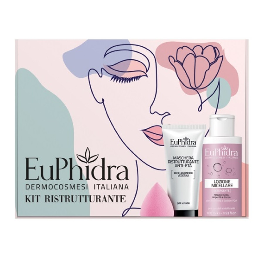 Euphidra Kit Ristrutturante 1 maschera + 1 mini lozione micel + drop make up