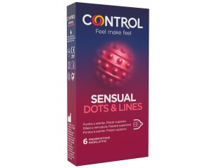 CONTROL SENSUAL DOTS&LINES 6PZ