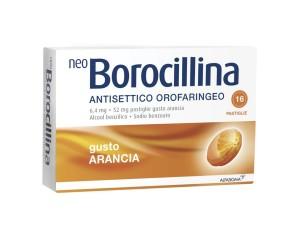 Neoborocillina Ant Or 6,4 Mg + 52 Mg Pastiglie Gusto Arancia, 16 Pastiglie In Blister Al/Pvc