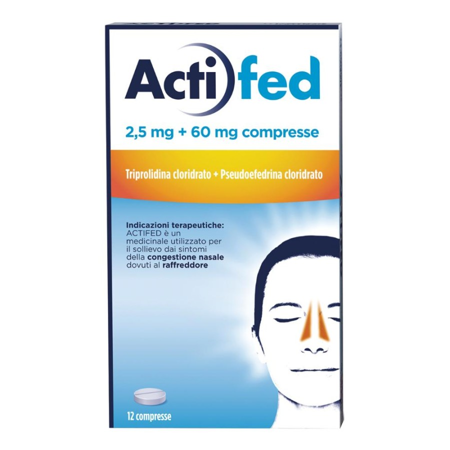 Actifed 2,5 Mg + 60 Mg Compresse 12 Compresse