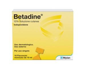 Betadine Sol Cut 10Fl 10Ml 10%