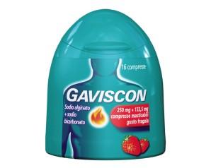 Gaviscon 250 Mg + 133,5 Mg Compressa Masticabile Gusto Fragola 16 Compresse In Contenitore Con Tappo A Scatto