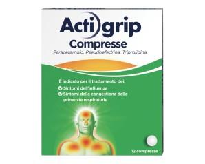 Actigrip 12 Compresse  2,5 + 60 + 500 Mg