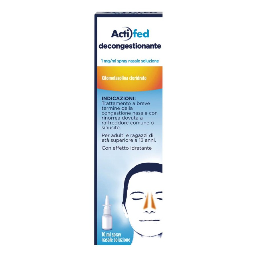 Actifed Decongest 1 Mg/Ml Spray Nasale, Soluzione 1 Flacone Hdpe Da 10 Ml