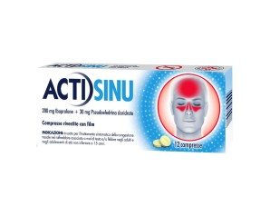 Actisinu 200 Mg/30 Mg Compresse Rivestite Con Film 12 Compresse In Blister Pvc/Pvdc/Al