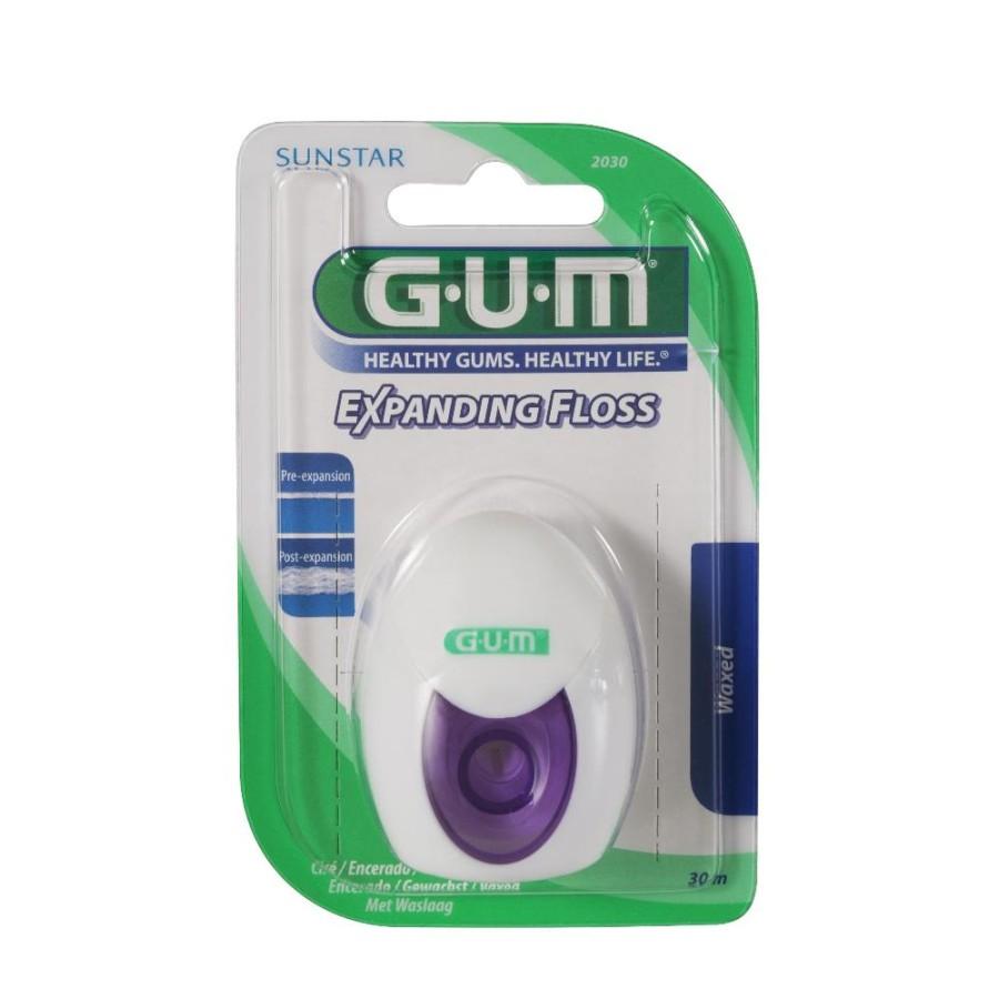 GUM Igiene Dentale Quotidiana Expanding Floss Filo Interdentale Cerato