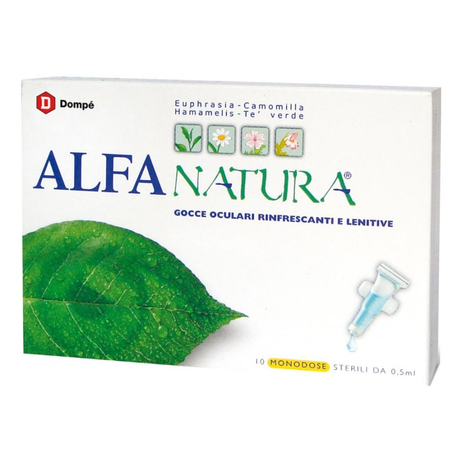 Bracco Alfa Natura Gocce Oculari Rinfrescanti Collirio 10 Monodose 0.5 ml