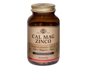 Solgar  Minerali Cal mag Zinco Integratore Alimentare 100 Tavolette