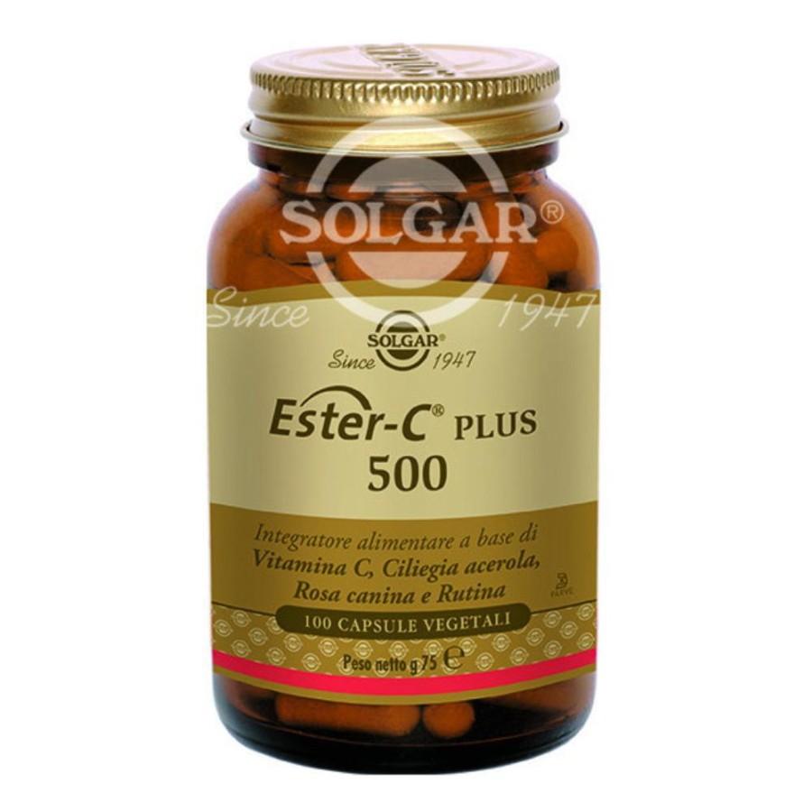 Solgar  Vitamine Minerali Ester-C Plus 500 Integratore 100 Capsule