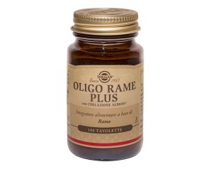 Solgar  Minerali Oligo Rame Plus Integratore Alimentare 100 Tavolette