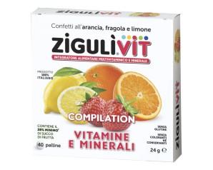 Falqui Zigulìvit Compilation Vitamine E Minerali Caramelle Alla Frutta 24 g