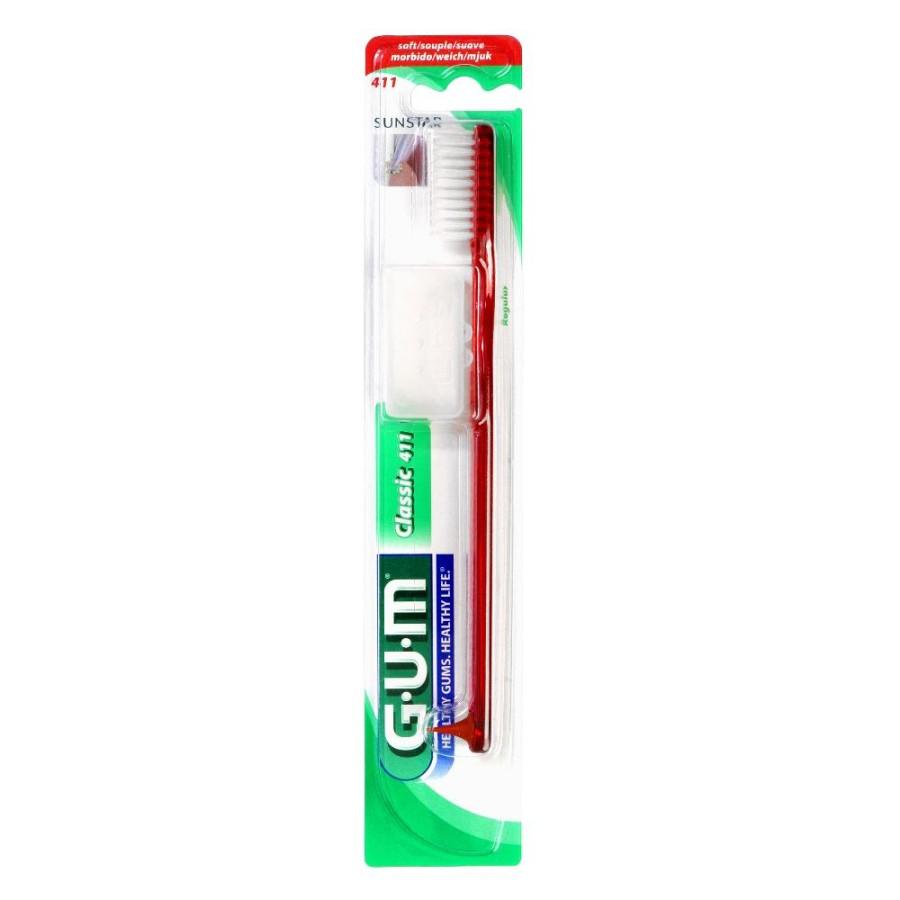 GUM Classic 411 Spazzolino Morbido Regular Igiene Dentale Quotidiana