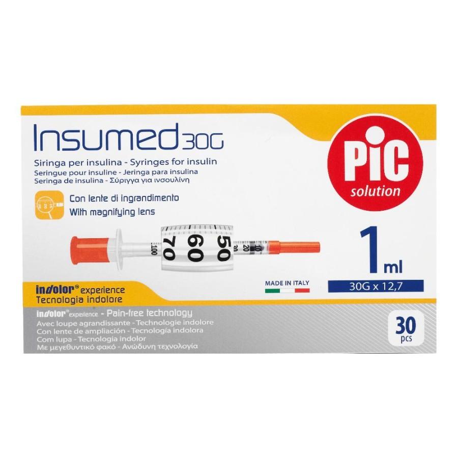 Artsana Pic Siringa Per Insulina Insumed 0.5 ml G 30x8mm 30 Pezzi