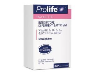Prolife Integratore Alimentare Dietetico Fermenti Lattici 24 Tavolette Masticab.