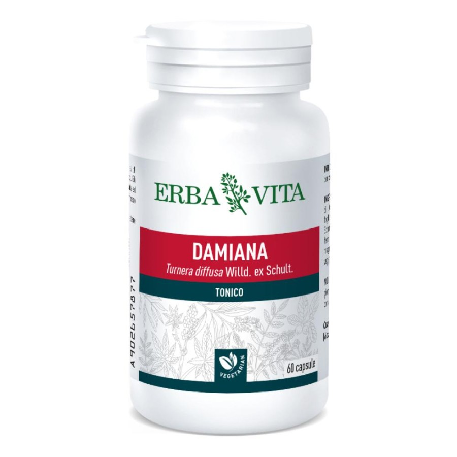 Erba Vita Damiana Capsule Monoplanta Integratore Alimentare 60 Capsule