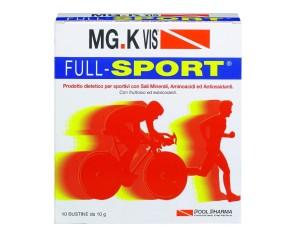 MGK VIS  Integrazione Sportivi Full Sport Integratore 10 Buste da 10 g