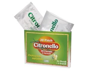 Sella  Anti-Zanzare Citronello Protezione Naturale 30 Cerotti 2 Formati