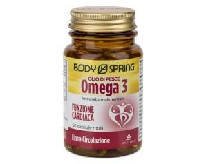 Angelini Body Spring Olio Di Pesce Omega 3 Integratore Alimentare50Capsule