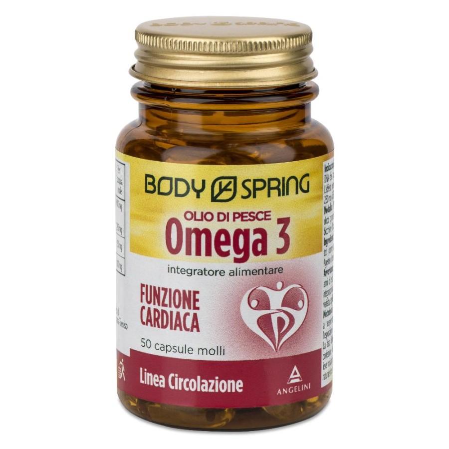 Angelini Body Spring Olio Di Pesce Omega 3 Integratore Alimentare50Capsule sca03