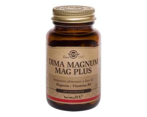 Solgar  Vitamine Minerali Dima Magnum Mag Plus Integratore 100 Tavolette