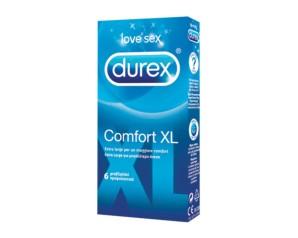 Durex Classic Profilattici Comfort XL Confezione con 6 Profilattici Extra