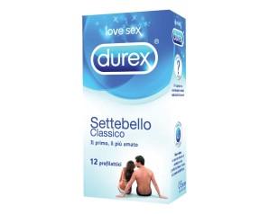 Durex  Settebello Classico Condom Confezione con 12 Profilattici