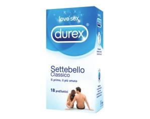 Durex Classica Settebello Classico Condom Confezione con 18 Profilattici