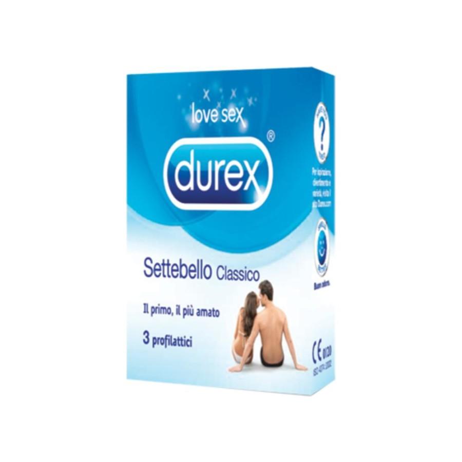 Durex Settebello Classico Condom Confezione con 3 Profilattici