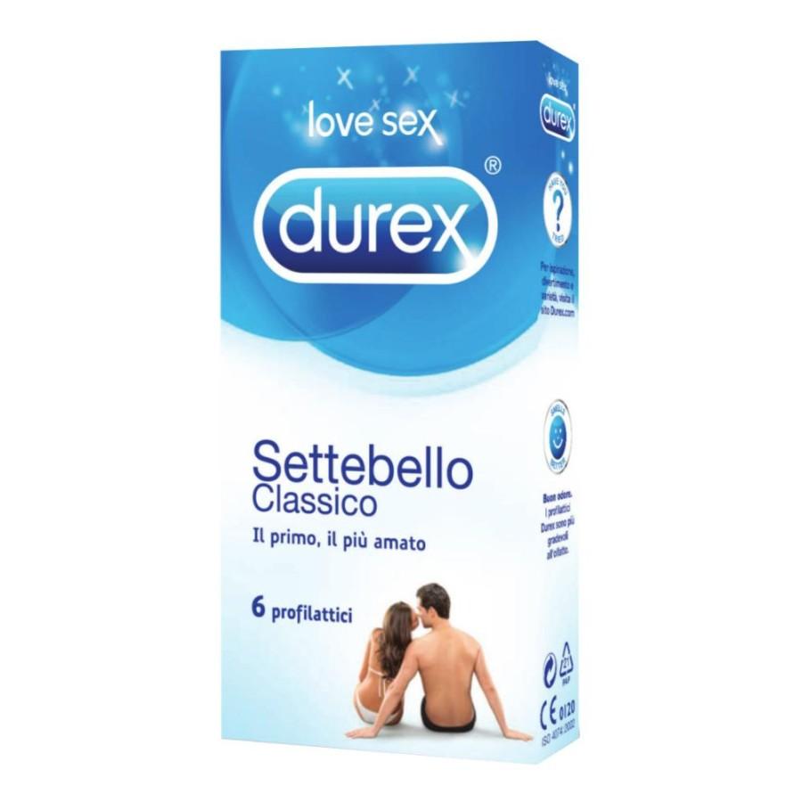 Durex Settebello Classico Condom Confezione con 6 Profilattici