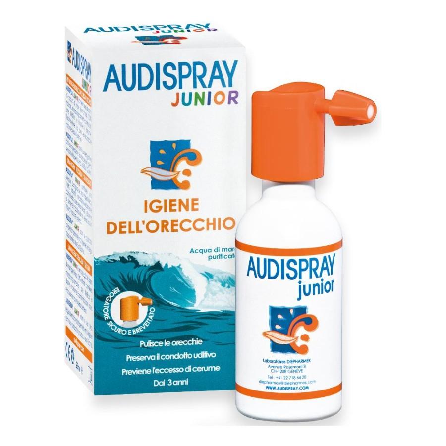 Audispray Junior Soluzione Di Acqua Di Mare Igiene Orecchio 25 ml