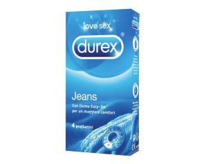 Durex Jeans Vestibilità Easy On Confezione con 4 Profilattici