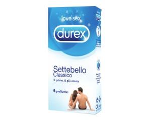 Durex  Classica Settebello Cassico Condom Confezione con 5 Profilattici