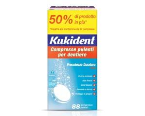 Kukident  Protesi Dentali Cleanser Fresh 88 Compresse Pulenti per Dentiere