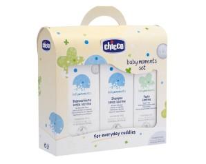 Chicco Baby Moments Cofanetto Pasta Lenitiva + Shampoo + Bagnoschiuma